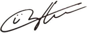 Handtekening Richard de Hoop