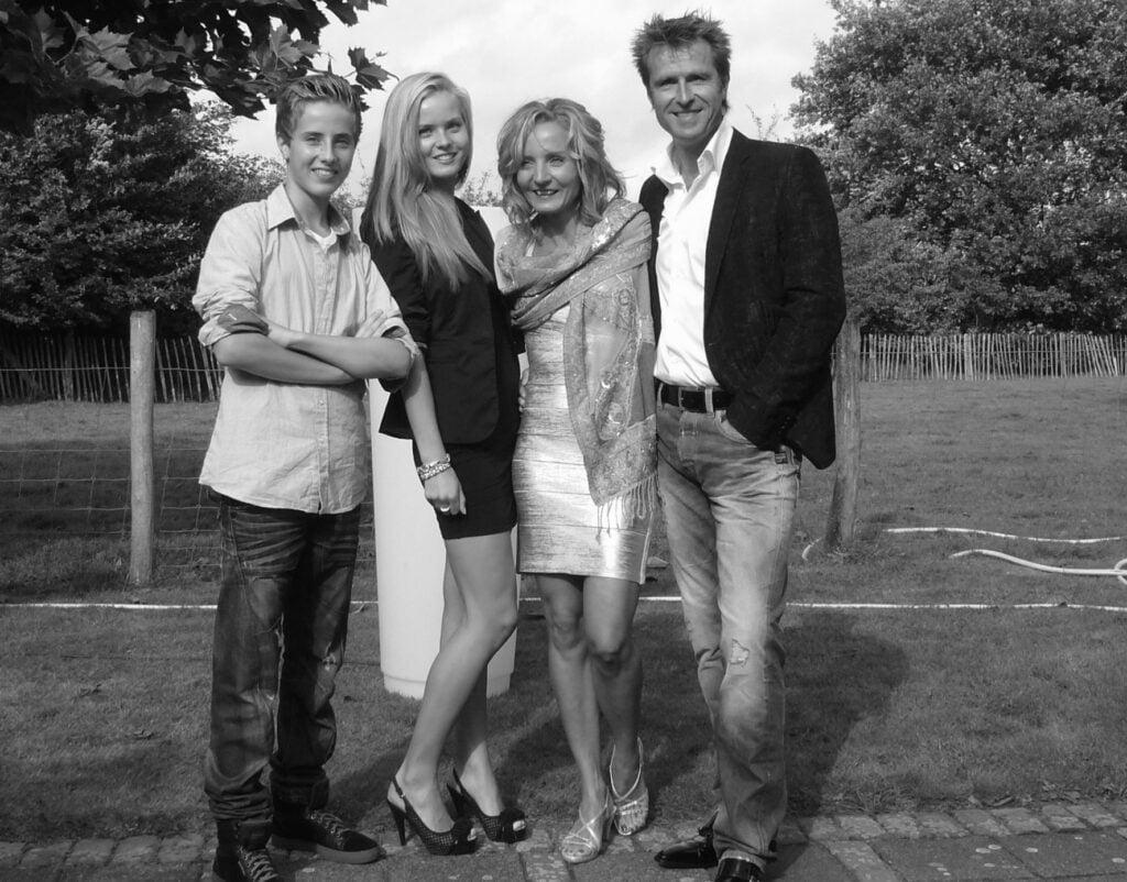 Richard de Hoop met zijn familie